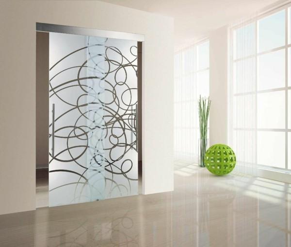 glastüren dekoratives glas modernes innendesign