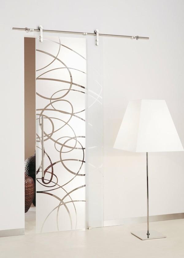 glastüren dekortür schönes design