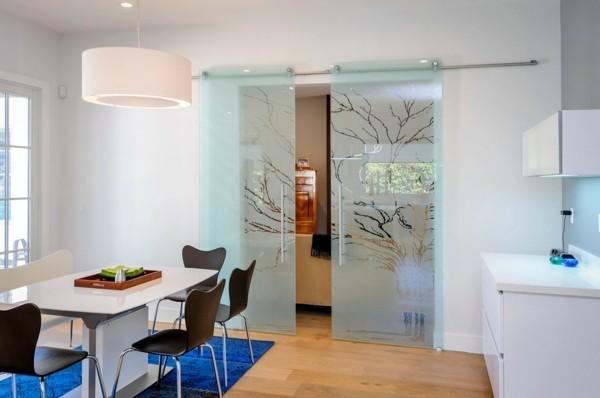 glastüren modernes design essbereich trennen