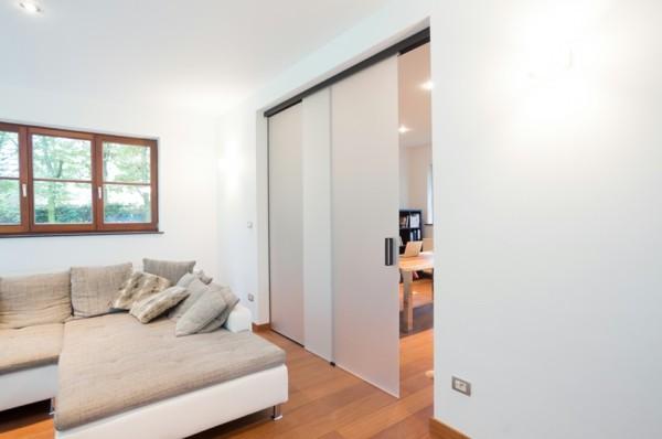 glastüren wohnzimmer arbeitszimmer abtrennen