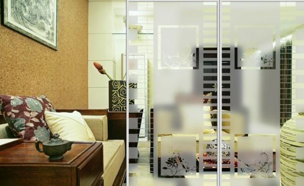 glastüren wohnzimmer bereiche abtrennen