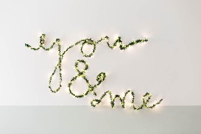 große romantische Lichterkette