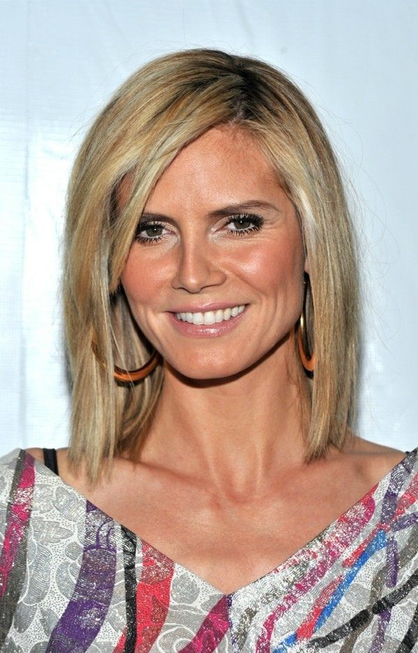 40 heidi klum frisuren als inspiration f r dein schickes haarstyling. Black Bedroom Furniture Sets. Home Design Ideas