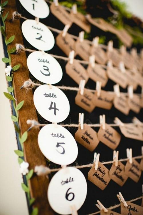 hochzeit feiern hochzeitsdeko selber machen recycling basteln tischordnung