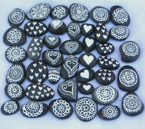 hochzeit feiern hochzeitsdeko selber machen steine bemalen