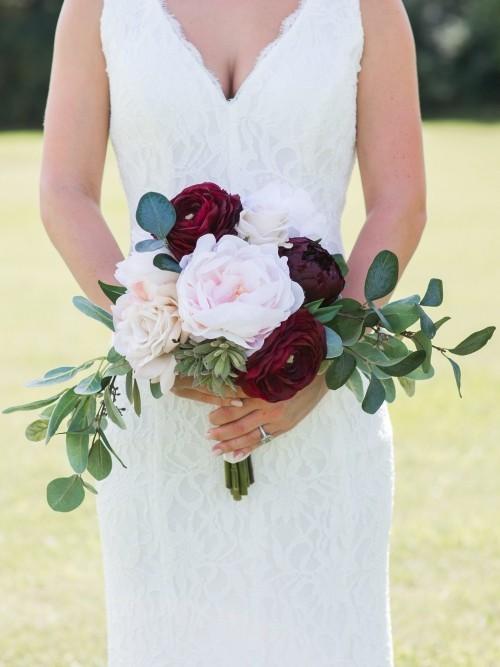 hochzeit feiern rosen sommerhochzeit braustrauß