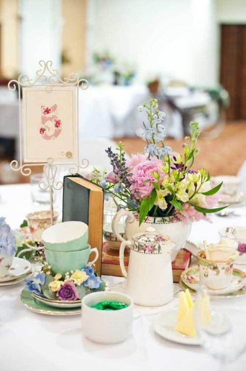 hochzeit feiern tisch dekorieren vintage stil