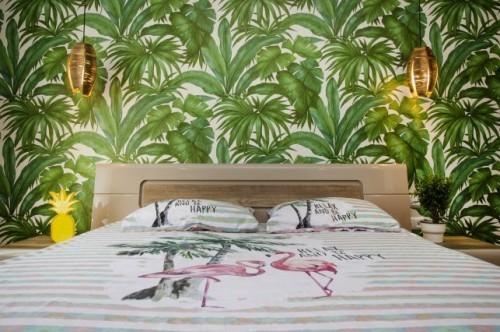 inneneinrichtung deko im schlafzimmer wand