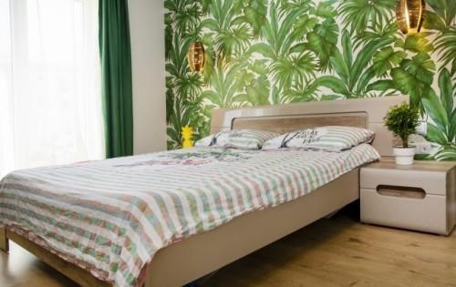 inneneinrichtung exotische wand schlafzimmer