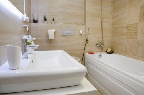 inneneinrichtung waschbecken und badewanne
