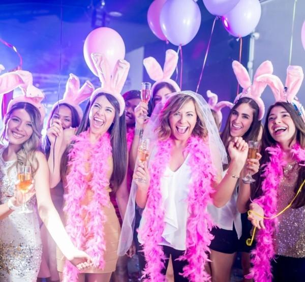 junggesellenabschied ideen frauen party pink