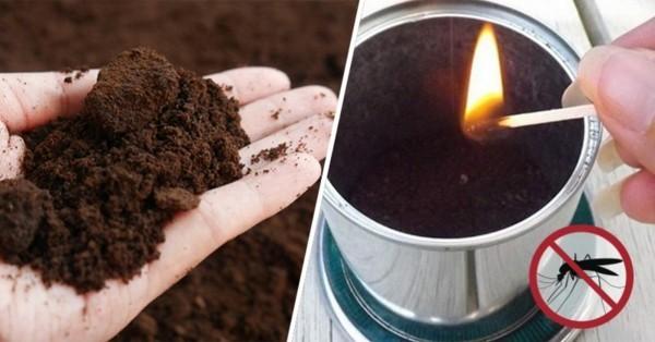 kaffeesatz für diy kerzen gegen mücken