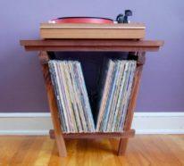 30+ Stauraum Ideen fürs Aufbewahren von Ihren Schallplatten