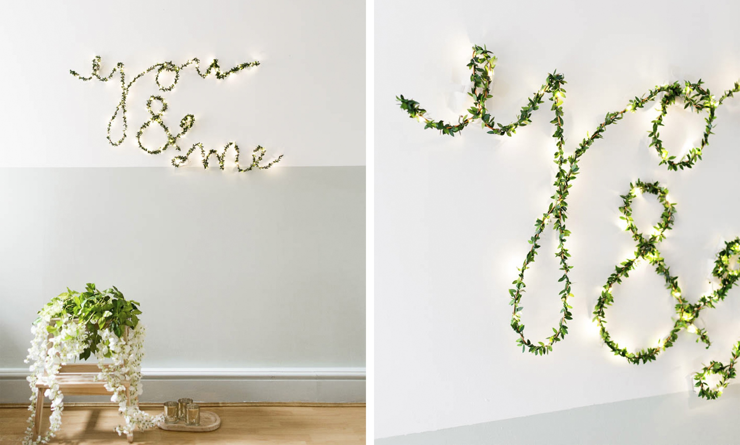 diy ideen lichterkette thema f r verliebte als deko idee f r die wandgestaltung fresh ideen. Black Bedroom Furniture Sets. Home Design Ideas