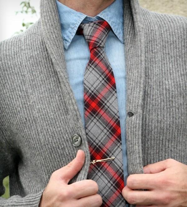 männer outfits krawatte auswählen karierte krawatte