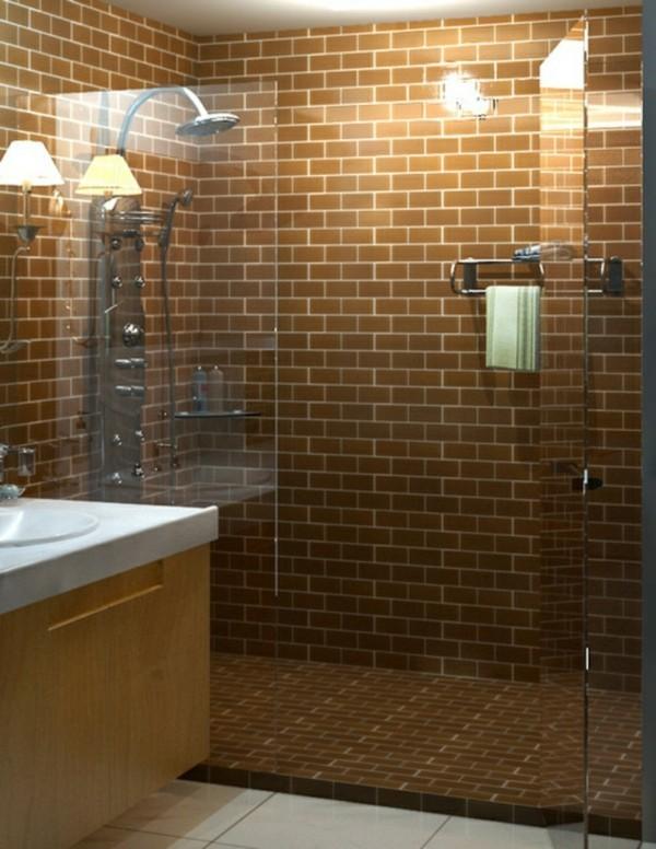 Metro Fliesen Bad Braune Wandfliesen Kleines Badezimmer