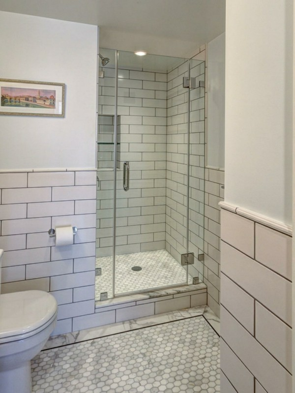 metro fliesen bad helles badezimmer schöner boden