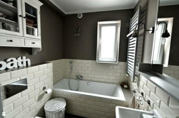 metro fliesen bad modernes badezimmer farbkontraste