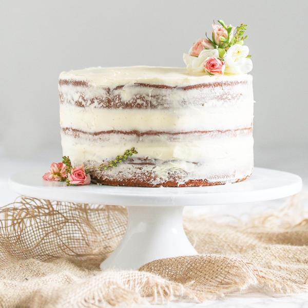naked cake boho hochzeit hochzeitstorte idee