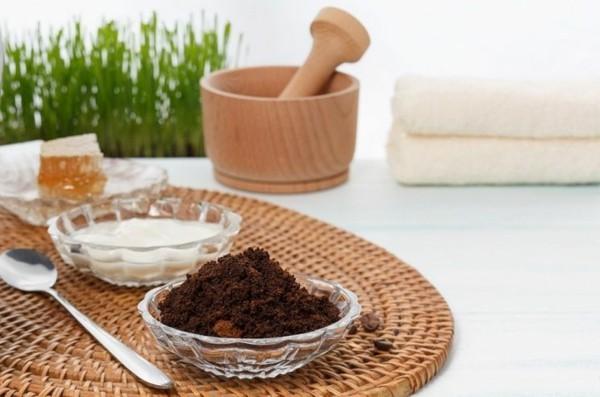naturale kosmetika mit kaffeesatz