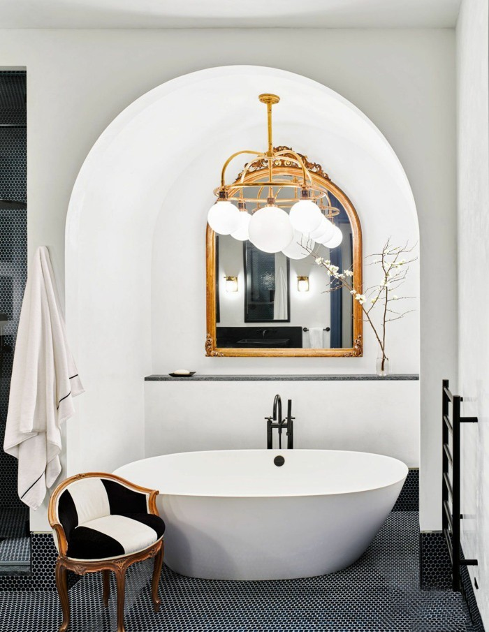 neue bad ideen schöne ovale formen