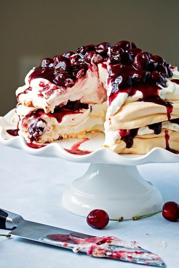 pavlova torte kirschen rezepte