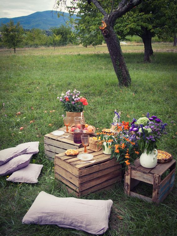 picknick ideen im wald mit diy plattformen