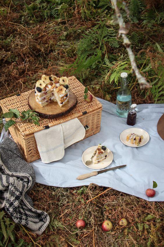 picknick ideen mit einem korb