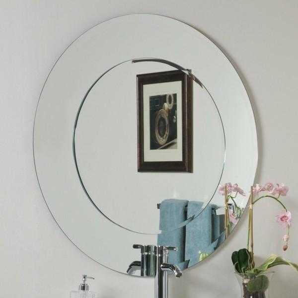 runder badspiegel moderner wandspiegel orchidee