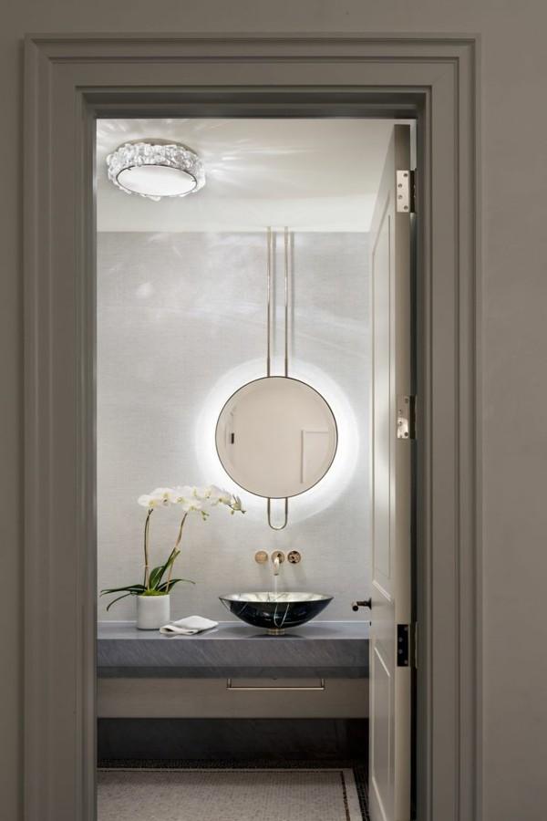 runder badspiegel modernes bad einrichten led beleuchtung wandspiegel