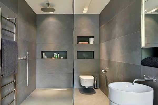 schöne graue wände bad neu gestalten