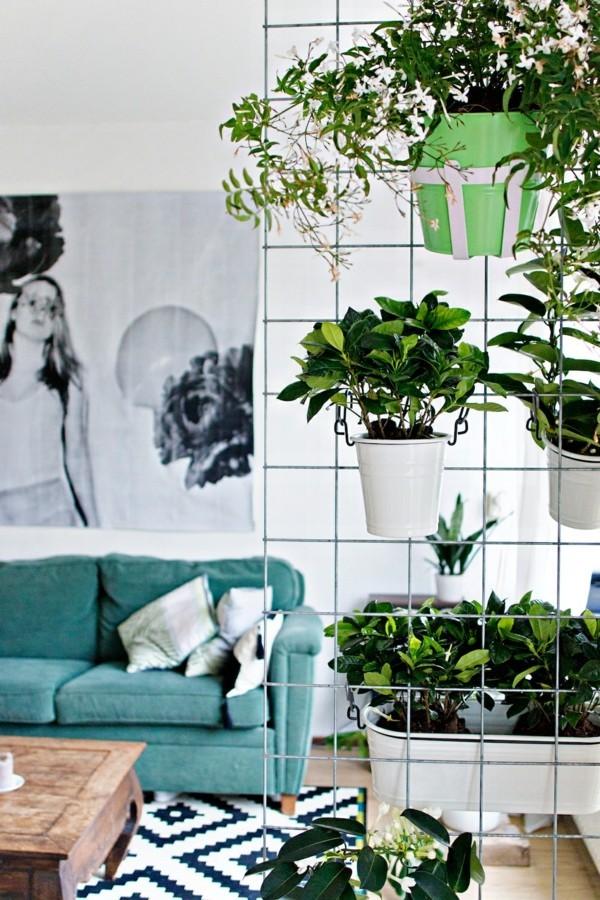 schöne und interessante wandgestaltung pflanzer