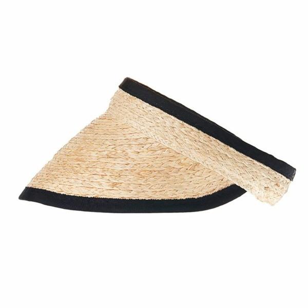 sommerhut stroh und schwarze streifen-resized
