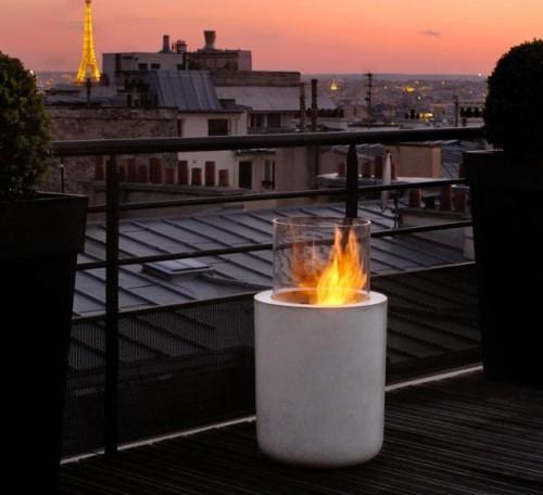 terrassenkamin funktionales design terrasse gestalten ideen