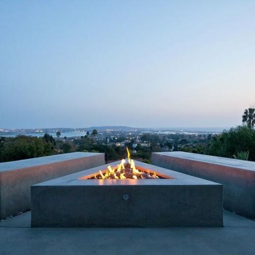 terrassenkamin moderne feuerstelle ausgefallenes design