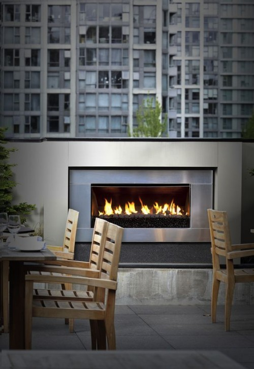 terrassenkamin moderne feuerstelle terrasse gestalten ideen