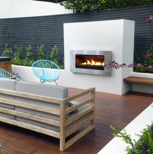 terrassenkamin moderne terrasse wohnlich