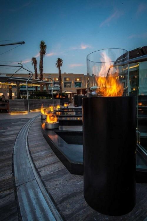 terrassenkamin super moderne terrassengestaltung