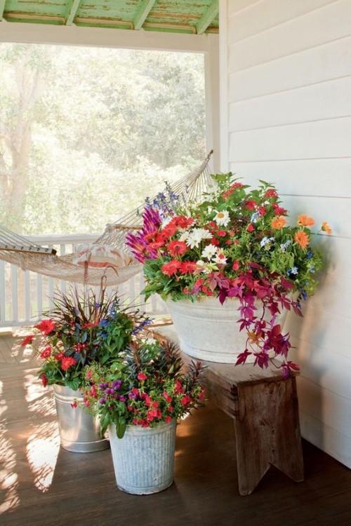 topfblumen farbenfrohe gartendeko ideen