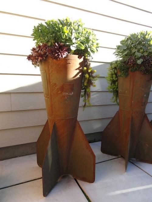 topfblumen kreative pflanzenbehälter ausgefallene gartendeko