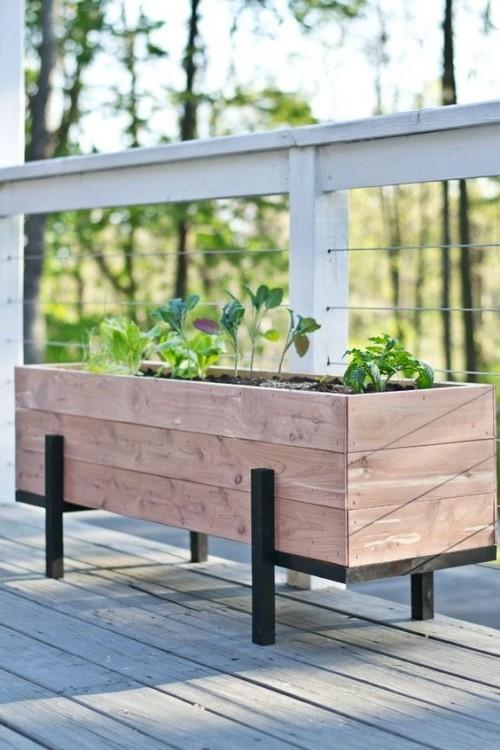 topfblumen pflanzbeet kreative ideen terrasse gestalten