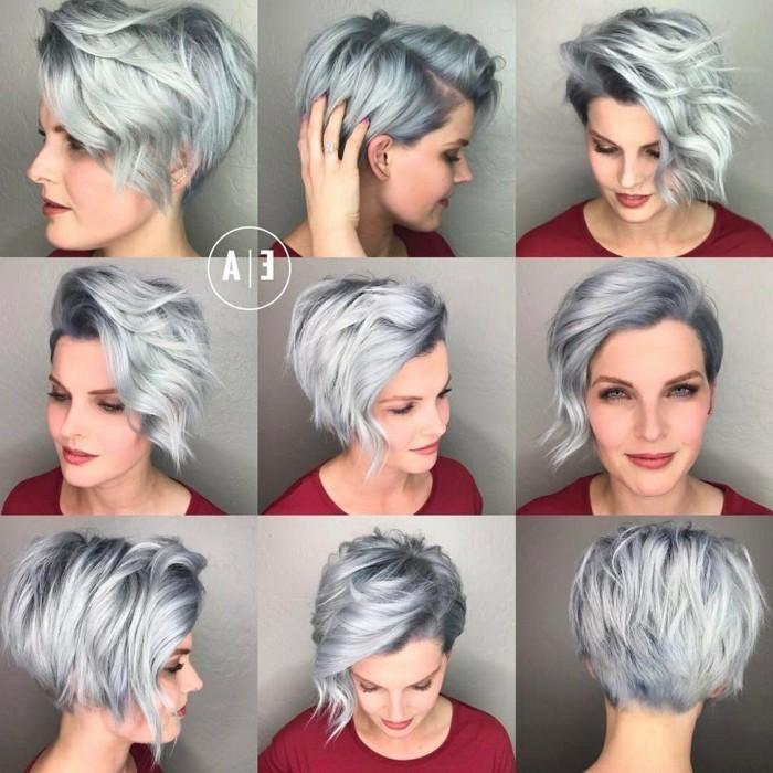 Frisuren 23 frauen kurz grau – Mittellange haare