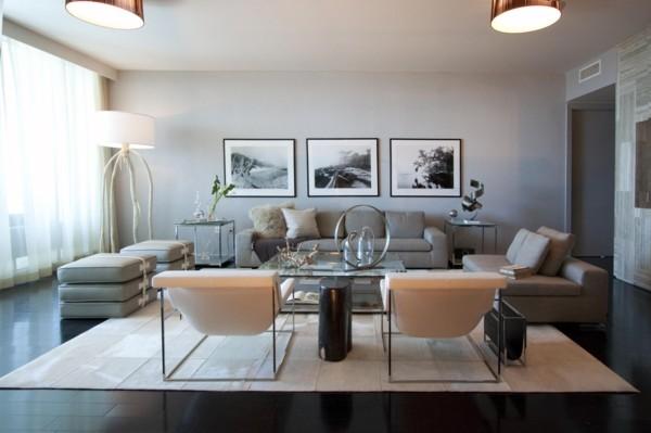 wandfarbe hellgrau gemütliches wohnzimmer gestalten