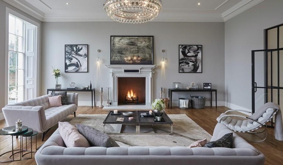 wandfarbe hellgrau ein charaktervoller hintergrund f r. Black Bedroom Furniture Sets. Home Design Ideas