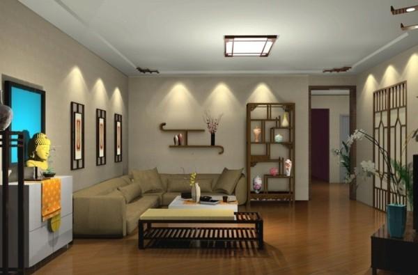 wandleuchten innen wohnzimmer wandlampen viele pflanzen