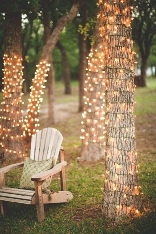 Außenbeleuchtung ein Teil der Dekoration Sommerparty