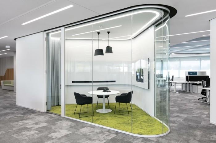 Bürotrennwand aus Glas grossraumbuero moeglich