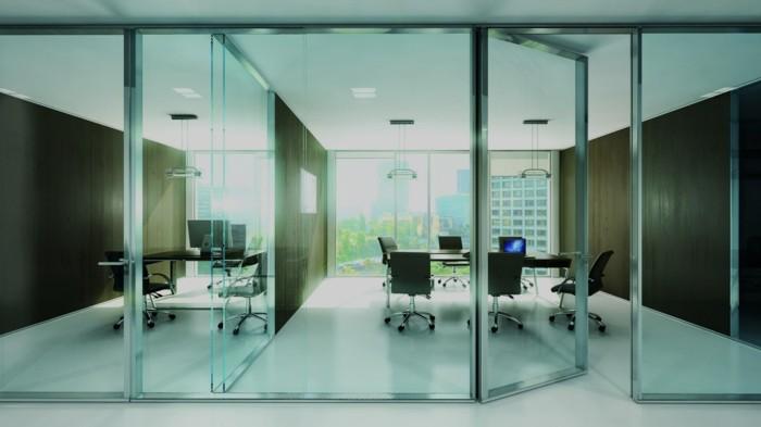 Bürotrennwand aus Glas grossraumbuero