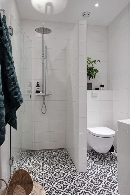 Small bathroom - clever tricks that make the bathroom look bigger