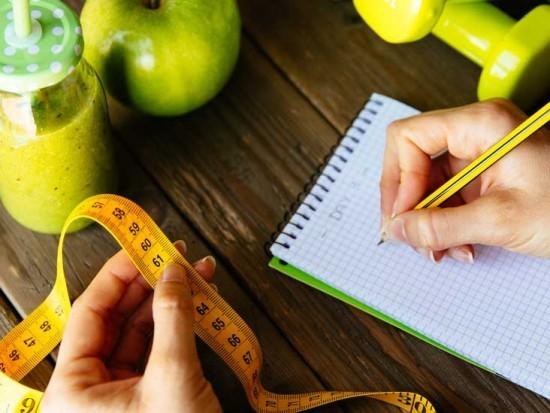 Gewichtreduzierung Fitness Smoothies Maße aufschreiben Speiseplan erstellen
